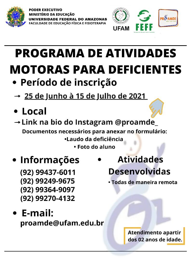 Programa de Atividades Motoras para Deficientes