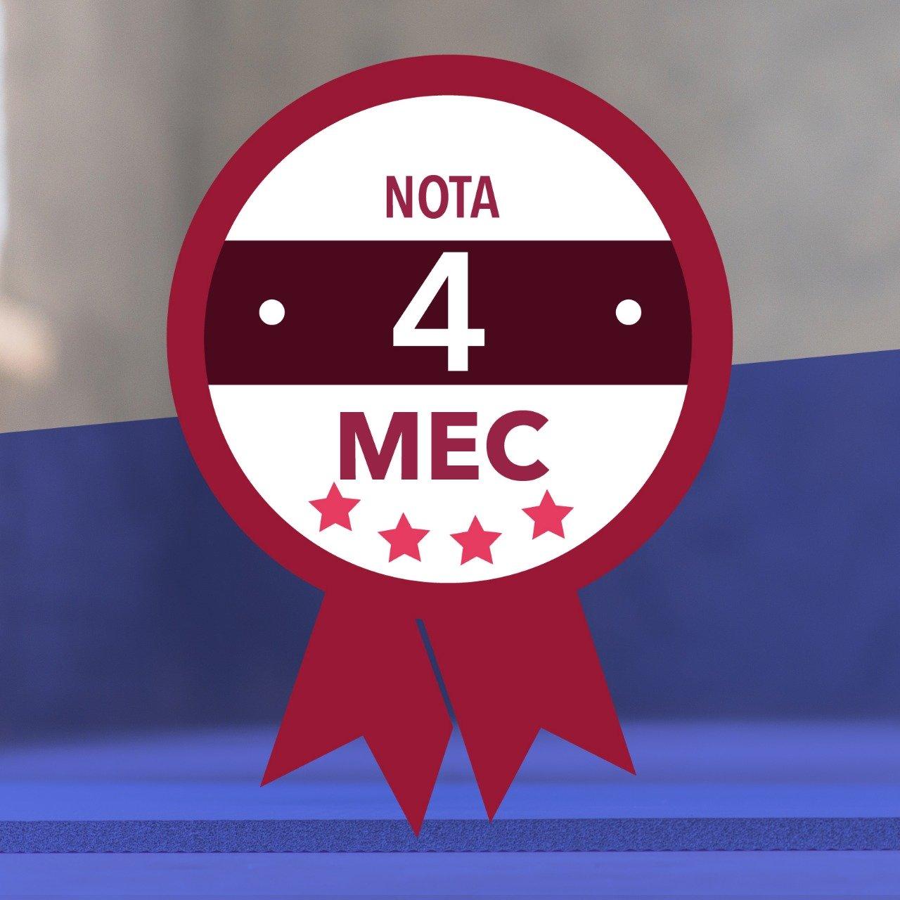Curso de Licenciatura em Educação Física - EAD conquistou Nota 4