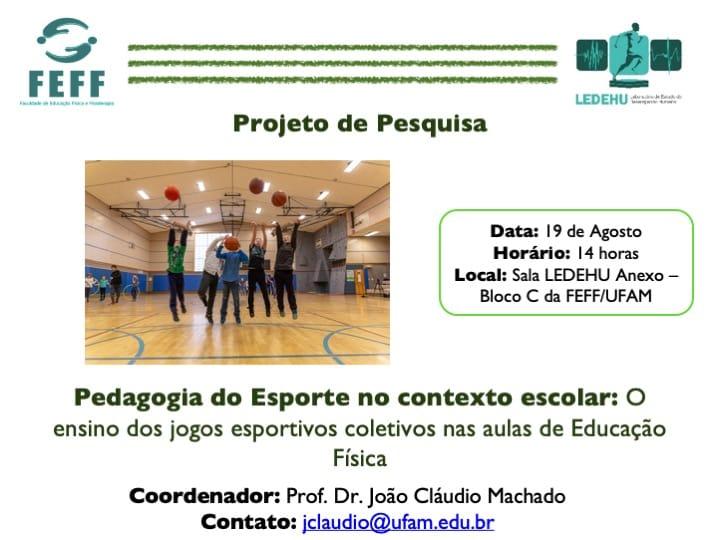 Pedagogia do Esporte no contexto escolar